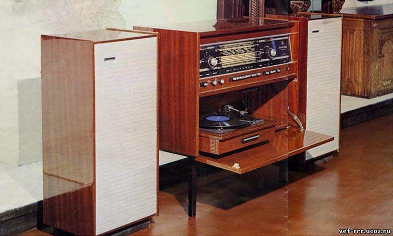 Симфония - 003 стерео радиола ламповая , с колонками.