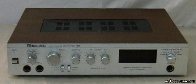 Описание: Усилитель полный Radiotehnika У-101-стерео предназначен для высококачественного усиления сигналов ЗЧ от.